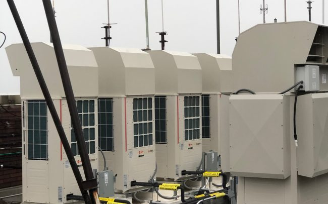 HVAC machinery on roof of North Central Bronx Hospital.