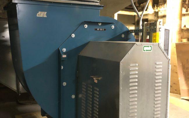HVAC machinery at North Central Bronx Hospital.