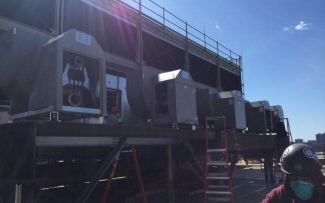 HVAC Construction work at Milstein Hospital.