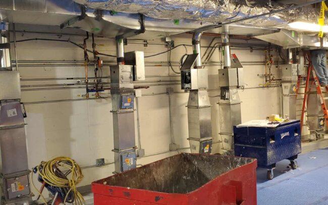 Indoor HVAC work for NYU Langone.